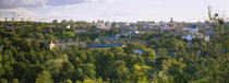 High angle view of a city, Vilnius, Trakai, Lithuania by Panoramic Images