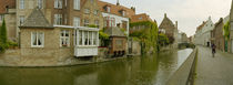 Houses along a channel, Bruges, West Flanders, Belgium von Panoramic Images