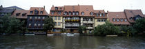 Buildings at the waterfront, Bamberg, Bavaria, Germany by Panoramic Images