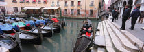 Gondolas in a canal, Grand Canal, Venice, Italy von Panoramic Images