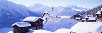 Snow Covered Chapel and Chalets Swiss Alps Switzerland by Panoramic Images