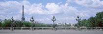 Cloud Over The Eiffel Tower, Pont Alexandre III, Paris, France von Panoramic Images