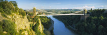 Bridge across a river, Clifton Suspension Bridge, Avon Gorge, Bristol, England von Panoramic Images