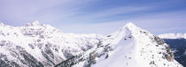 Snowcapped mountain range, Schlick 2000, Stubaital, Tyrol, Austria by Panoramic Images
