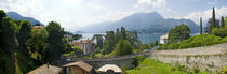 Houses in a town, Villa Melzi, Lake Como, Bellagio, Como, Lombardy, Italy by Panoramic Images