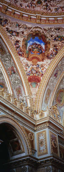Dolmabahce Palace, interior architectural detail of ceiling mural by Panoramic Images