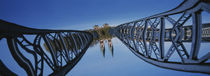 Low Angle View Of A Bridge, Blue Bridge, Freiburg, Germany by Panoramic Images