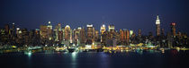 Buildings at the waterfront, Manhattan, New York City, New York State, USA by Panoramic Images