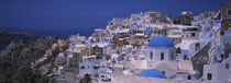 High angle view of a town, Oia, Santorini, Greece by Panoramic Images