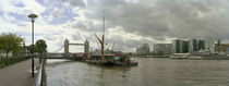 River viewed from the Cherry Garden Pier, Thames River, London, England by Panoramic Images