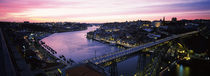 Bridge across a river, Dom Luis I Bridge, Duoro River, Porto, Portugal by Panoramic Images