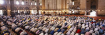 Crowd praying in a mosque, Suleymanie Mosque, Istanbul, Turkey by Panoramic Images