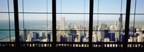 High angle view of a city as seen through a window, Chicago, Illinois, USA von Panoramic Images