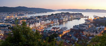 Buildings in a city, Bergen, Hordaland County, Norway by Panoramic Images
