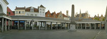 Facade of an old fish market, Vismarkt, Bruges, West Flanders, Belgium von Panoramic Images