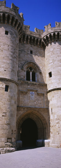 Entrance of a palace, Palace Of The Grand Masters of the Knights, Rhodes, Greece by Panoramic Images