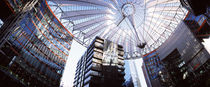 Low angle view of buildings, Sony Center, Potsdamer Platz, Berlin, Germany by Panoramic Images