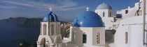 High Angle View Of A Church, Church Of Anastasis, Fira, Santorini, Greece von Panoramic Images