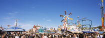 Group of people in the Oktoberfest festival, Munich, Bavaria, Germany by Panoramic Images