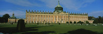 Facade of a palace, Sanssouci Palace, Potsdam, Brandenburg, Germany by Panoramic Images