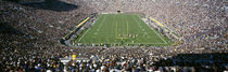 Aerial view of a football stadium, Notre Dame Stadium, Notre Dame, Indiana, USA von Panoramic Images