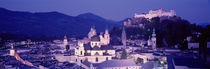 Austria, Salzburg, Panoramic view of the city in dusk von Panoramic Images