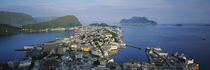 High angle view of a town, Alesund, More og Romsdall, Norway von Panoramic Images