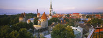 High angle view of a city, Tallinn, Estonia by Panoramic Images