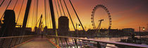 Thames River, Millennium Wheel, City Of Westminster, London, England by Panoramic Images