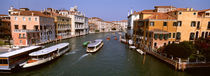 High angle view of ferries in a canal, Grand Canal, Venice, Italy von Panoramic Images
