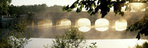 Stone Bridge In Fog, Loire Valley, France von Panoramic Images
