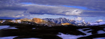 Clouds over snowcapped mountains, Fjallabak, Central Highlands, Iceland von Panoramic Images