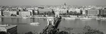 Chain Bridge Over The Danube River, Budapest, Hungary von Panoramic Images