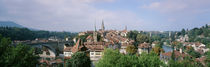Aare River & skyline Bern Switzerland by Panoramic Images