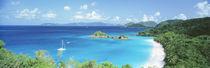 Ocean, Beach, Water, Trunk Bay, St John, Virgin Islands, West Indies by Panoramic Images