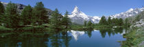 Riffelsee Lake, Pennine Alps, Zermatt, Valley, Switzerland by Panoramic Images