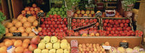 Close-Up Of Fruits In A Market, Rue De Levy, Paris, France von Panoramic Images