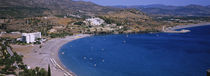 High angle view of a beach, Lindos, Rhodes, Greece von Panoramic Images