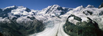 Snow Covered Mountain Range With A Glacier, Matterhorn, Switzerland by Panoramic Images