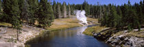 Geothermal vent on a riverbank, Yellowstone National Park, Wyoming, USA by Panoramic Images