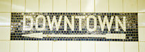 USA, New York City, subway sign von Panoramic Images