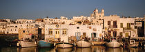 Boats at the waterfront, Paros, Cyclades Islands, Greece by Panoramic Images