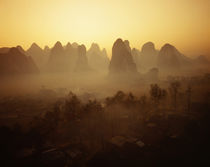 Sunrise in Mountains Guilin China by Panoramic Images