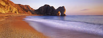 Rock formations on the seaside, Durdle Door, Dorset, England by Panoramic Images