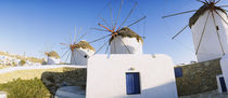 Traditional windmill in a village, Mykonos, Greece by Panoramic Images