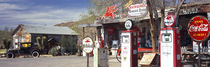 Store with a gas station on the roadside, Route 66, Hackenberry, Arizona, USA by Panoramic Images