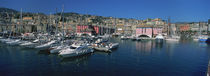 Boats at a harbor, Porto Antico, Genoa, Italy von Panoramic Images