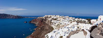 High angle view of a town on an island, Oia, Santorini, Cyclades Islands, Greece von Panoramic Images