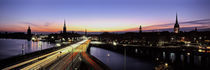 High angle view of traffic on a highway, Stockholm, Sweden by Panoramic Images