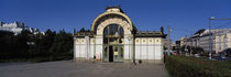 Entrance of a railroad station, Karlsplatz, Vienna, Austria by Panoramic Images